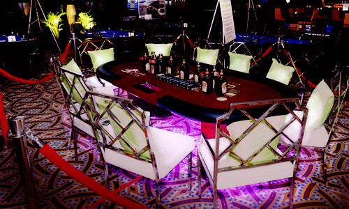 LED Lit Poker Table