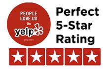 Perfect 5-Star Yelp Rating